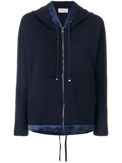 Moncler Contrast Trim Hooded Jacket