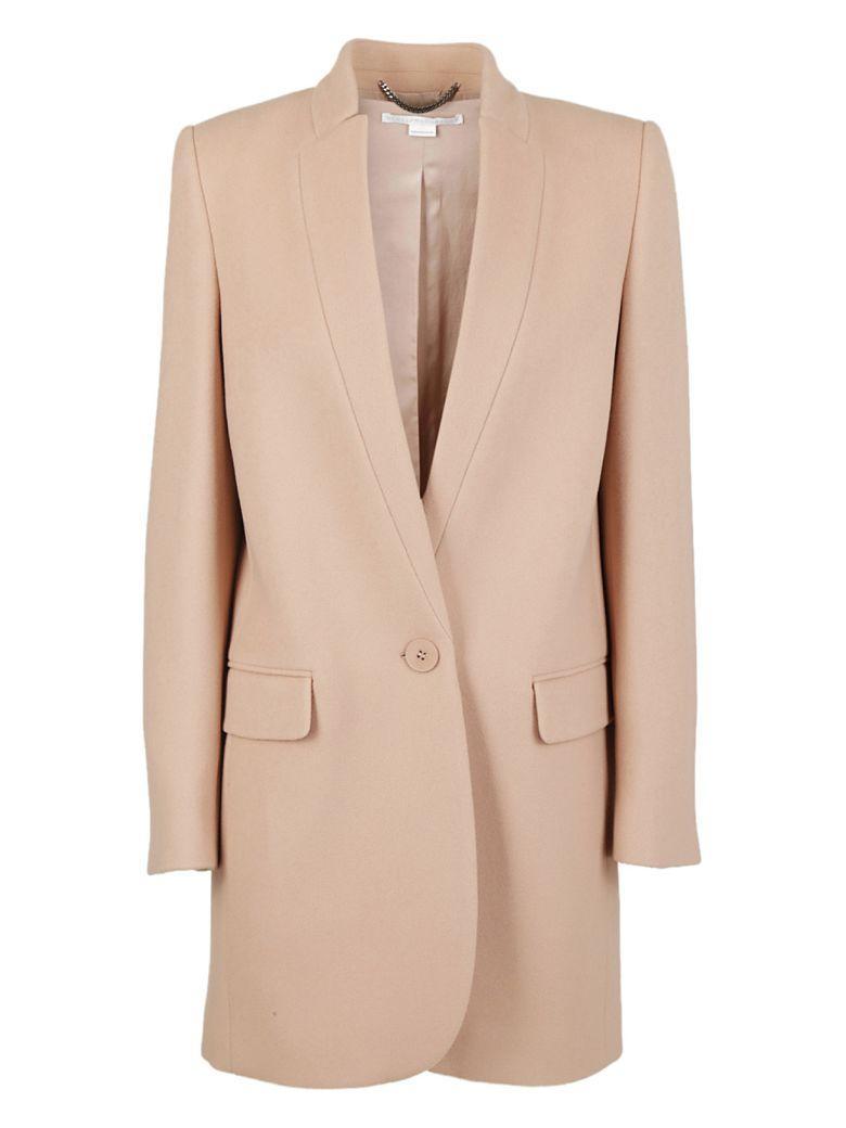 Stella Mccartney Button Up Coat In Rosa