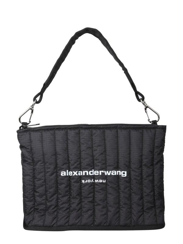 Alexander Wang Laptop Shoulder Bag In Black