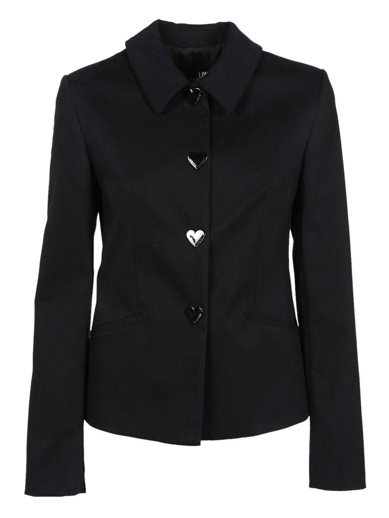 Love Moschino Heart Button Jacket In Black