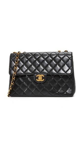 Chanel Jumbo 2.55 Shoulder Bag (previously Owned) In Black