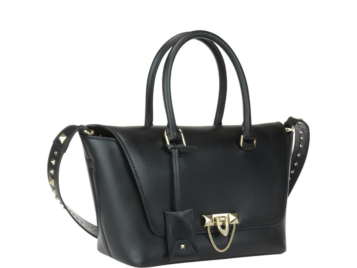 Valentino Garavani Demilune Small Double Handle Bag In Black