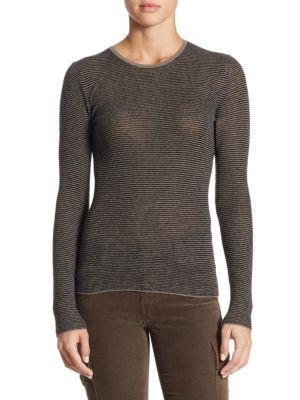 Vince Skinny Mallard Sweater In Cinder Black