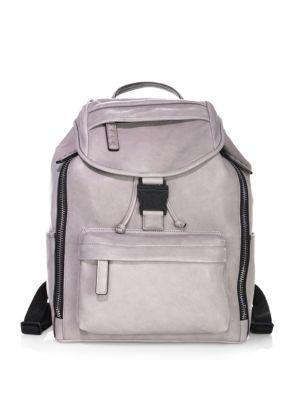 Mcm Killian Backpack In Saharh Lambskin In Silver