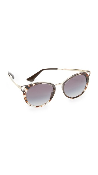 Prada Wanderer Sunglasses In Spotted Opal Brown/grey