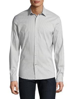 Michael Kors Brooks Casual Button-down Shirt In White