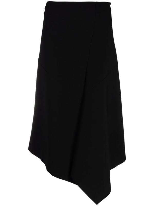 Dorothee Schumacher Emotional Essence Asymmetric Wrap Skirt In Black