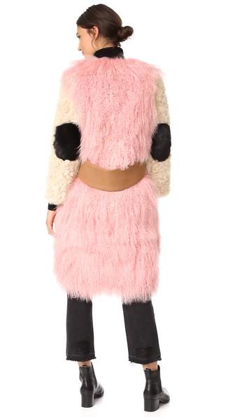 Sandy Liang Mingo Coat In Curry Pink
