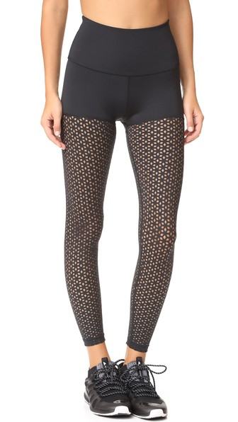 Beyond Yoga Perfect Thigh High Waisted Midi Leggings In Black