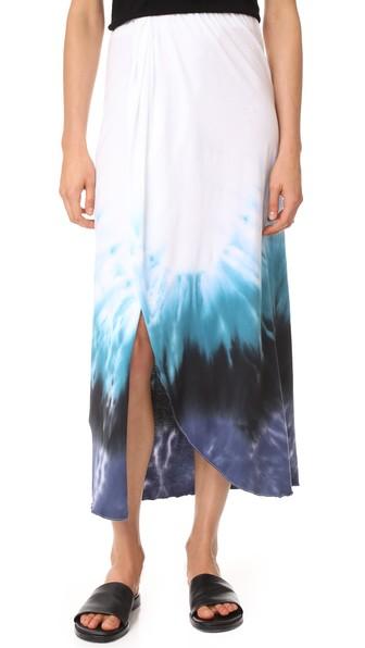 Baja East Midi Skirt In Blue