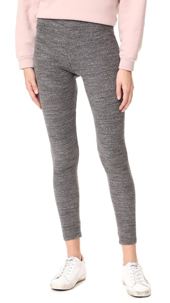 James Perse Contrast Stretch Leggings In Charcoal
