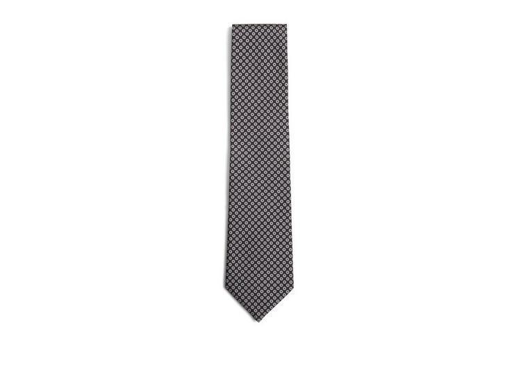 Tom Ford Printed Hoop Tie In Black