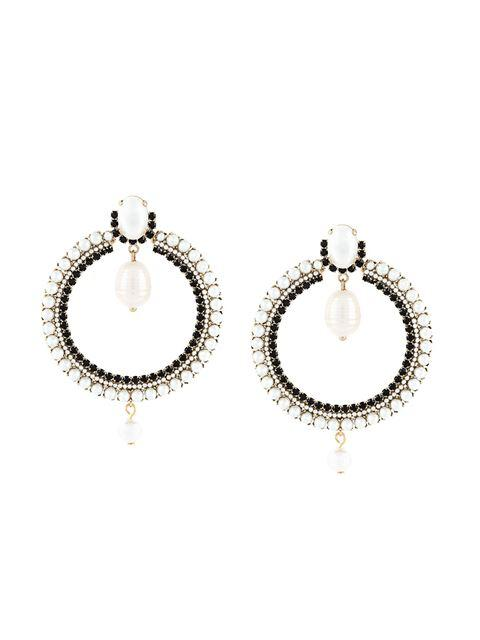 Givenchy Embellished Loop Earrings - White