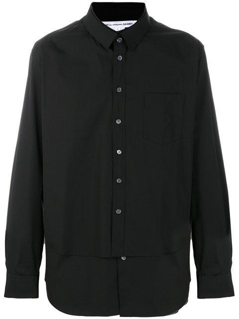 Comme Des GarÇons Shirt Black Double Shirt
