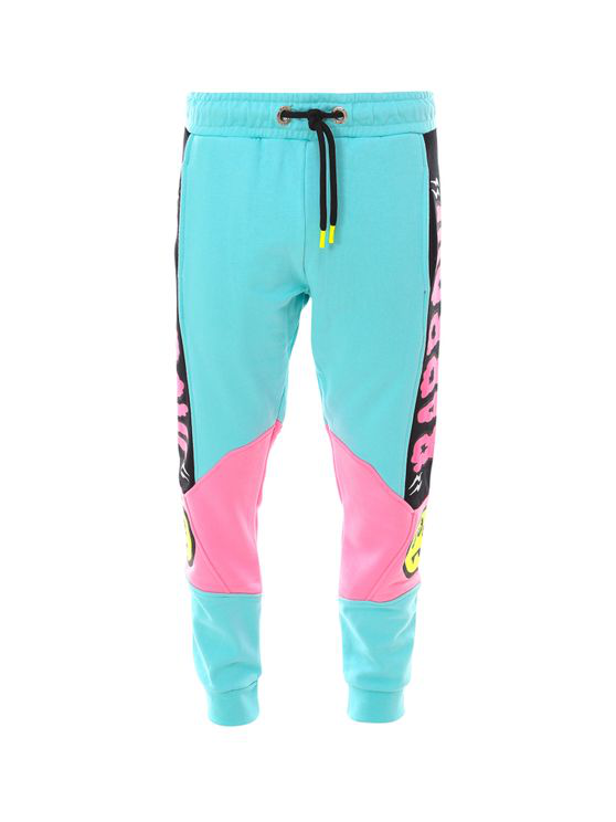 Barrow Jogging Trouser With Fluorescent Print In Blue
