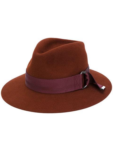 Maison Michel Rico Buckle Ribbon Hat