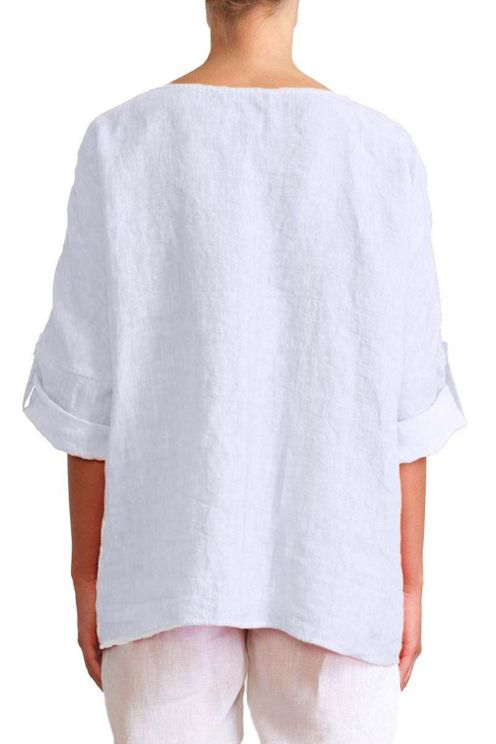 Elemente Clemente Luvos Top With Pockets In White