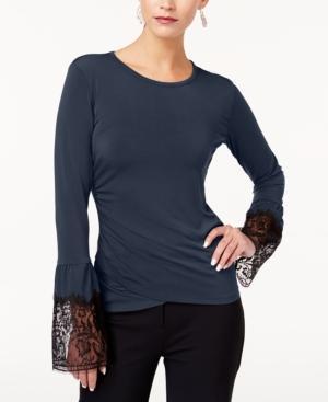 Kobi Halperin Kobi Lace-trim Top, Created For Macy's In Midnight