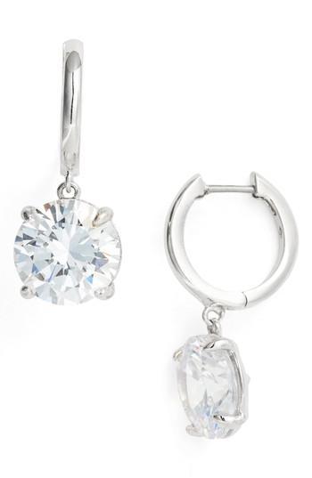 Kate Spade Bright Idea Drop Earrings In Clear/ Silver