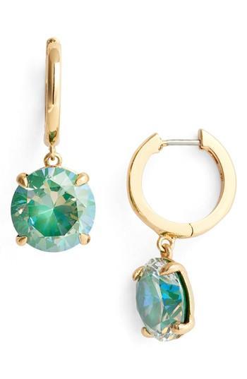 Kate Spade Bright Idea Drop Earrings In Emerald