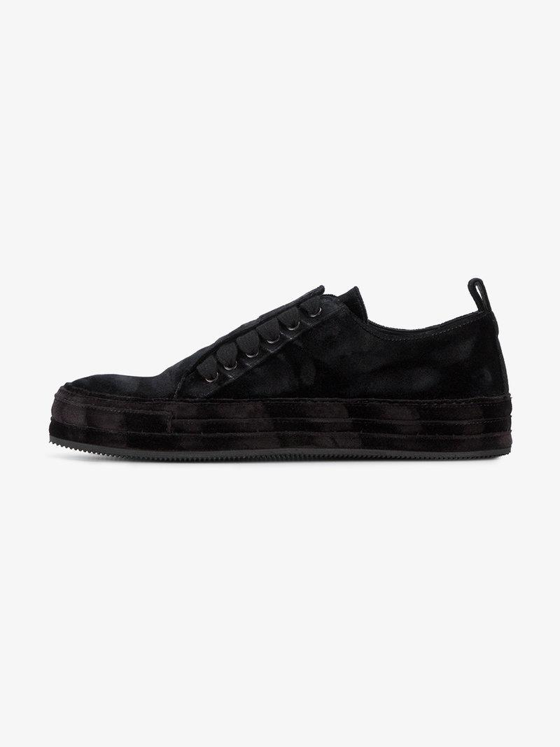 Ann Demeulemeester Crushed Velvet Sneakers In Black