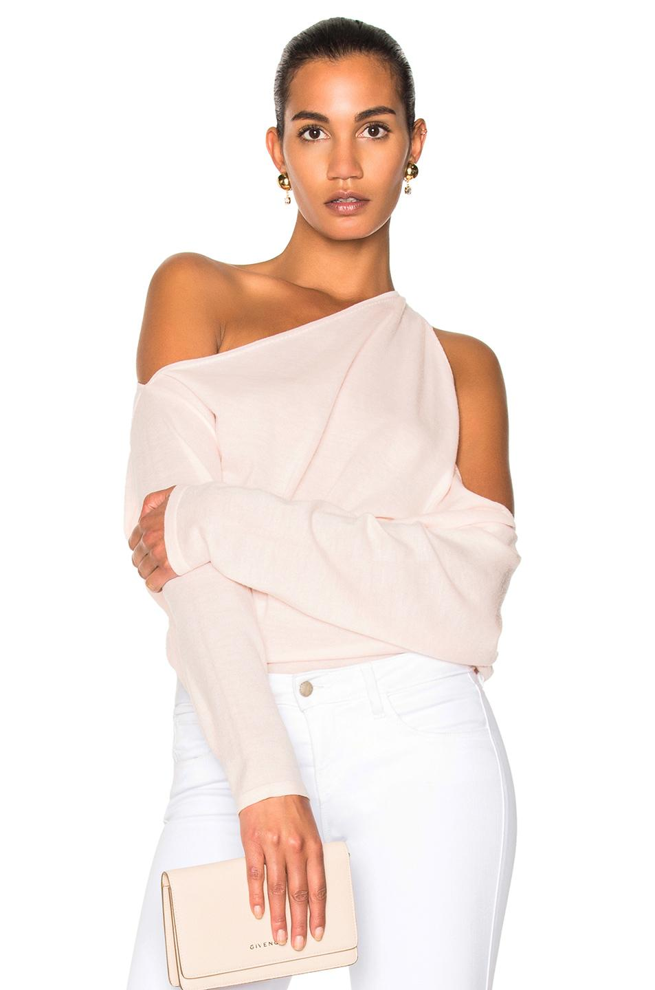 Dion Lee Falling Knit Sweater In Pink