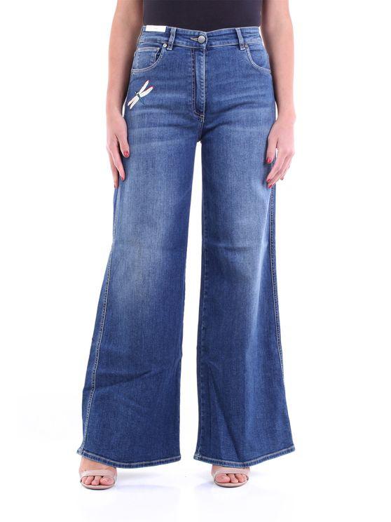 Pt Torino Jeans Wide Fund Women Jeans In Blue