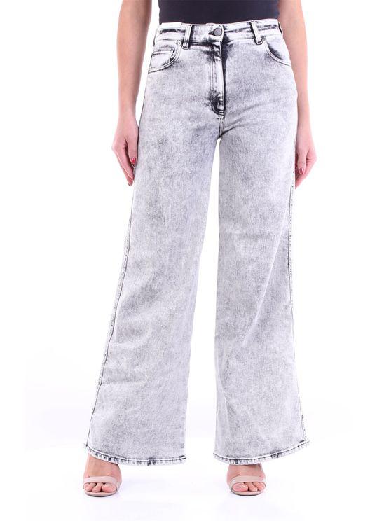 Pt Torino Jeans Wide Fund Women Light Grey