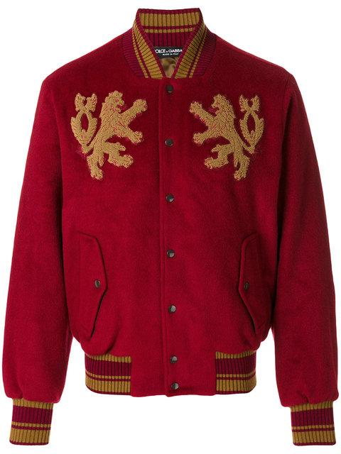 Dolce & Gabbana Dragon Patch Bomber Jacket