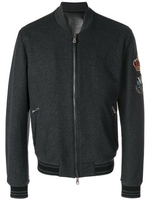 Dolce & Gabbana Embellished Sleeve Bomber Jacket