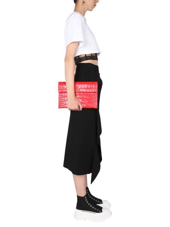 Mcq By Alexander Mcqueen Pencil Skirt In Black