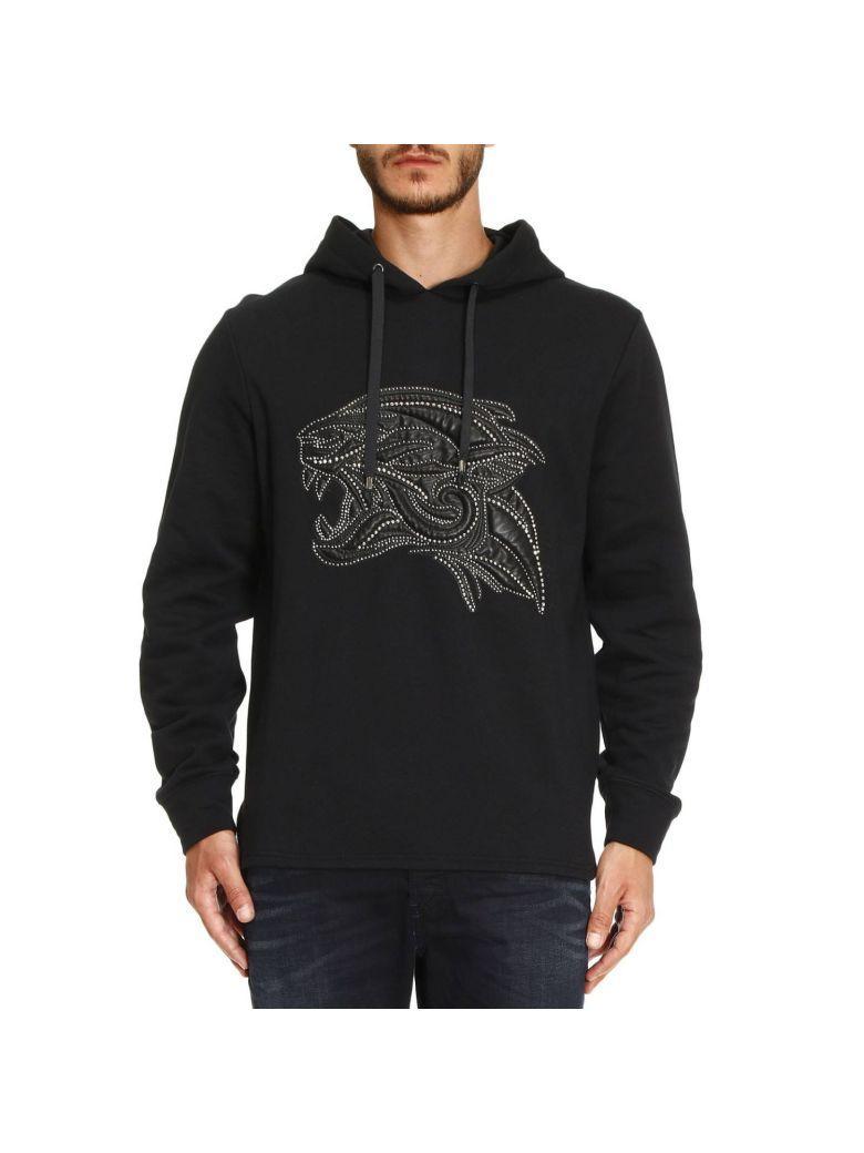 Roberto Cavalli Sweatshirt Sweater Men  In Black