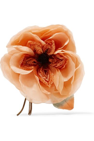 Gucci Oversize Flower Brooch In Orange