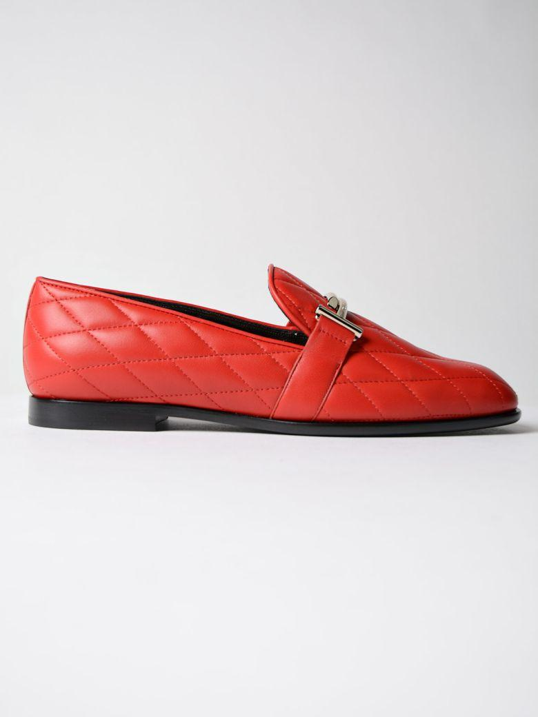 Tod's 10mm Double T Quilted Leather Loafers In Red