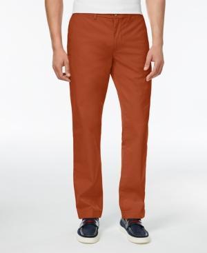 Tommy Hilfiger Men's Custom Fit Chino Pants In Rooibos Tea