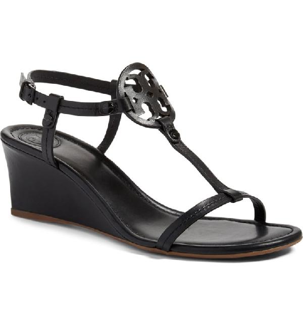 1e370e1cfa2c Tory Burch Miller Logo 60Mm Wedge Sandals In Black