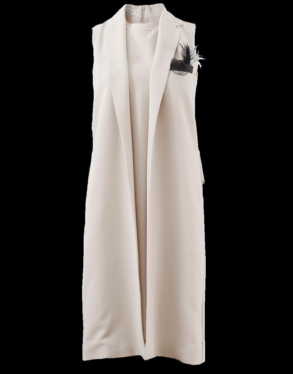 Brunello Cucinelli Vest Dress In Latte