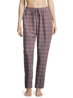 Hanro Sleep & Lounge Woven Pants In Graphic Floral