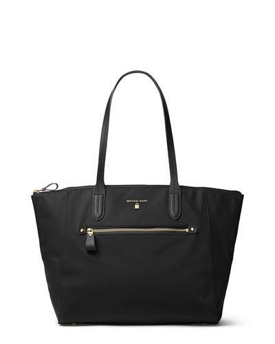 d3494b620159 Michael Michael Kors Kelsey Large Nylon Zip Tote Bag In Black