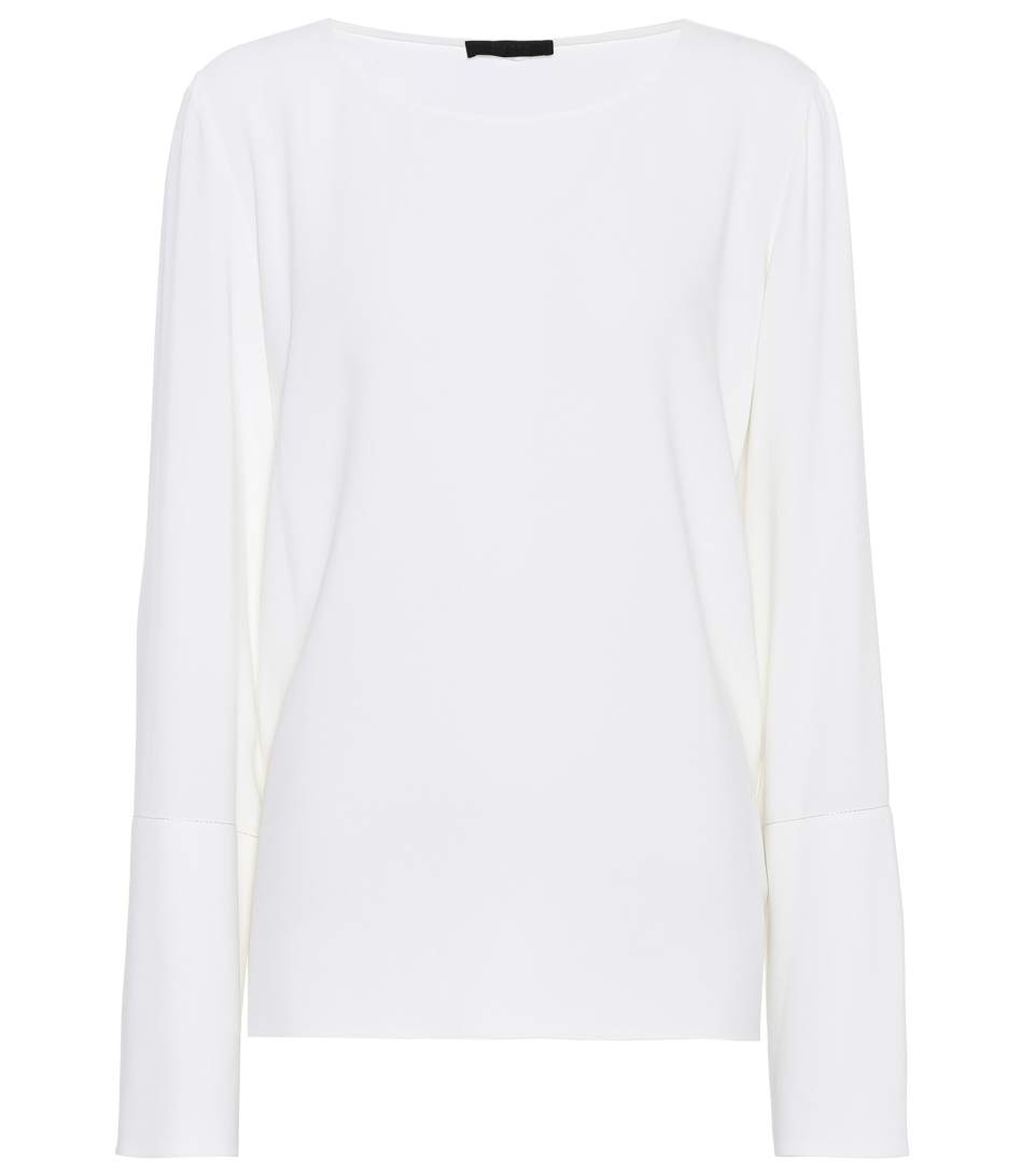 The Row Ivy CrÊpe Top In White