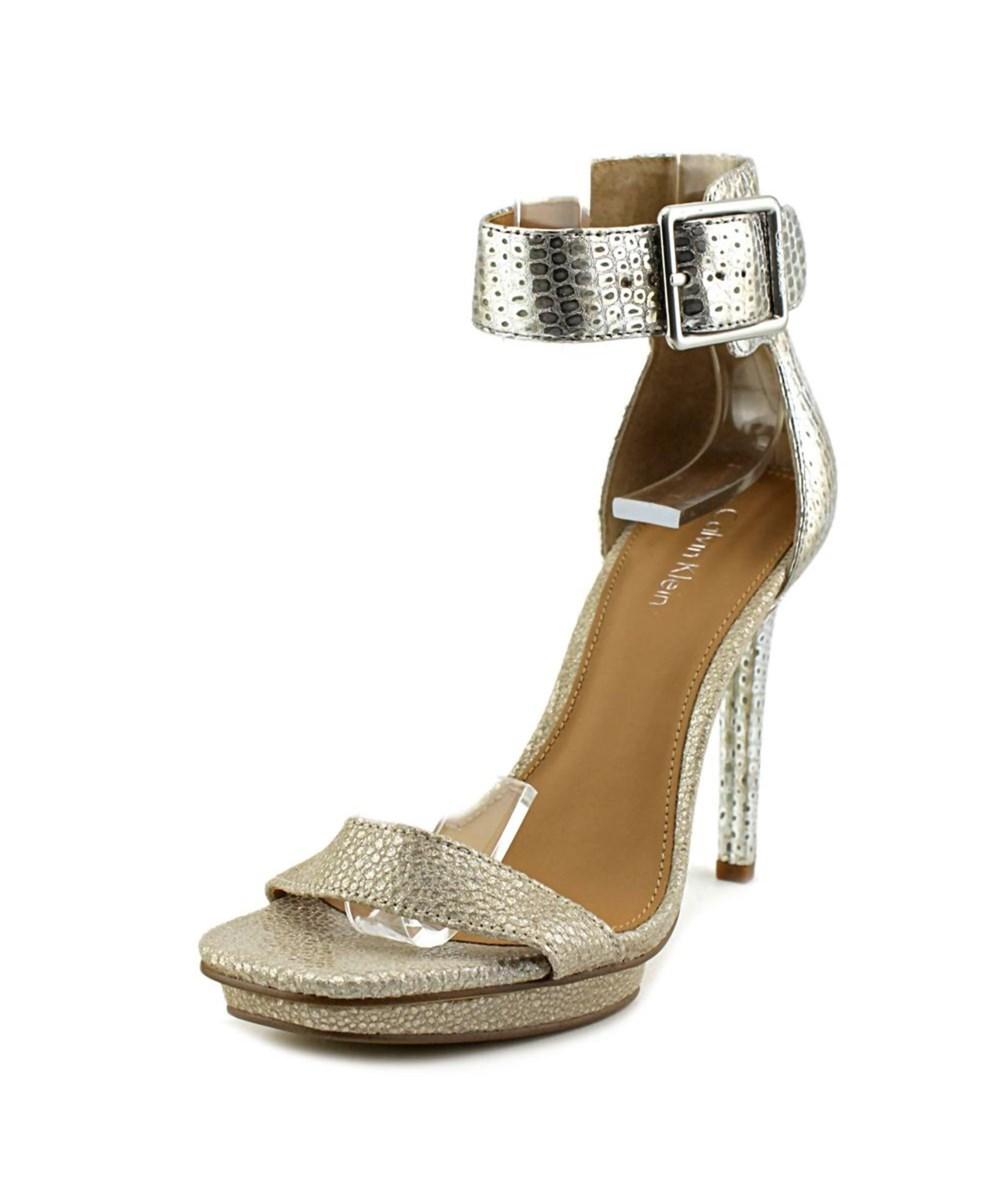 Calvin Klein Vable Women  Open Toe Synthetic Silver Sandals