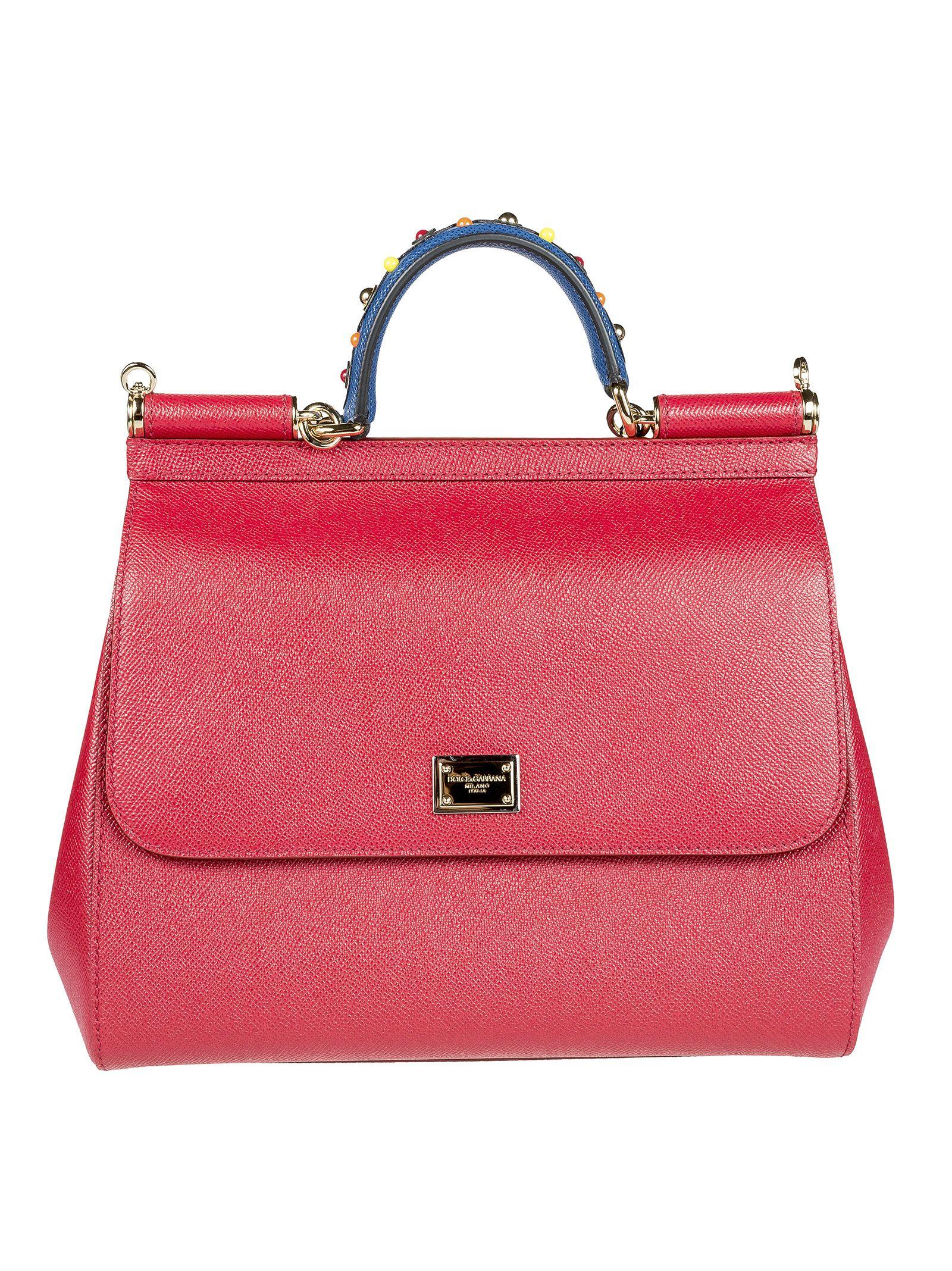 Dolce & Gabbana Large Sicily Tote In Red