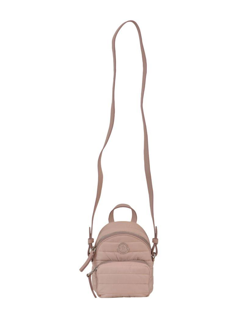 Moncler Mini Quilted Backpack In Nude