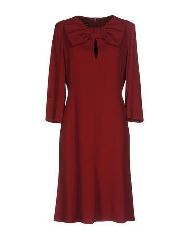 Emporio Armani Short Dress In Maroon