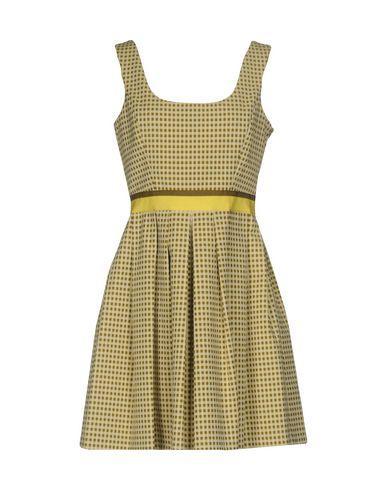 Pinko Short Dress In Yellow