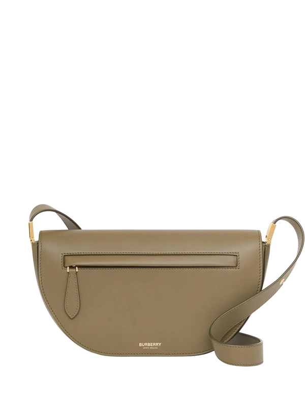 Burberry Olympia Curved Crossbody Bag In Green