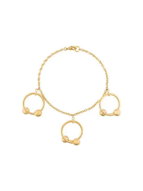 Jw Anderson Double-Sphere Gold-Plated Bracelet In Metallic