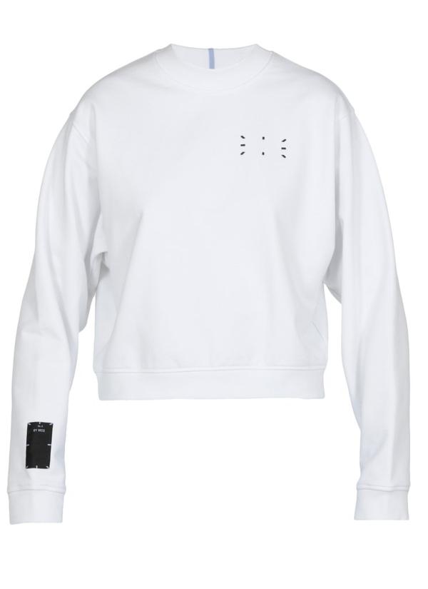 Mcq By Alexander Mcqueen Mcq Alexander Mcqueen Patch Detail Cropped Sweatshirt In White