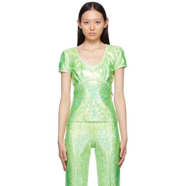 Saks Potts Green Shimmer Alexandria Blouse