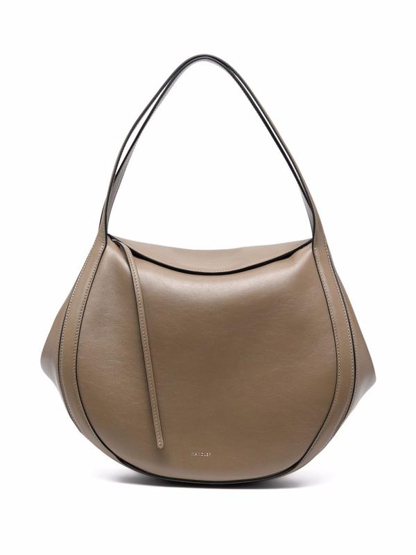 Wandler Lin Calf Leather Shoulder Bag In Verde 2681